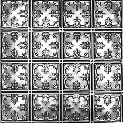 2 ft. x 4 ft. Nail Up Tin Ceiling Tile in Bare Steel (24 sq. ft./case)