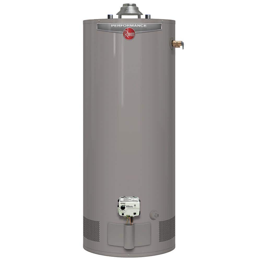 Rheem Performance 30 Gal Short 6 Year 30 000 Btu Natural Gas Tank Water Heater Xg30s06ec30u1 The Home Depot