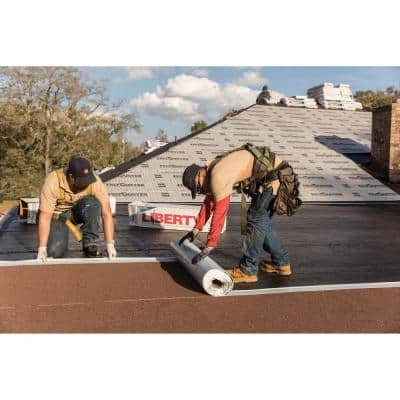 Liberty 3 ft. x 34 ft. (100 sq. ft.) SBS Self-Adhering Cap Sheet Roll for Low Slope Roofing in Slate