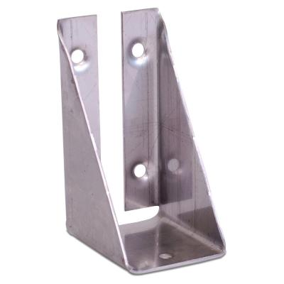 Unfinished 316 Stainless Steel Bracket with Screws for Fence Section to Deck Rail Post Connections