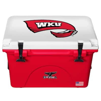40 QT Cooler Red/White 20 - Western Kentucky