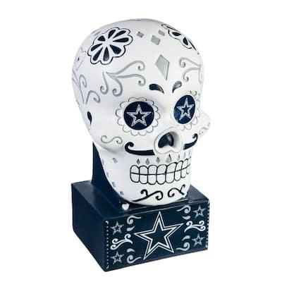 Dallas Cowboys Sugar Skull Garden Statue