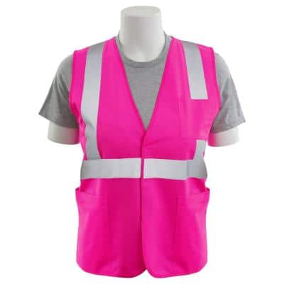 S762P Large HVP Polyester Solid Safety Vest