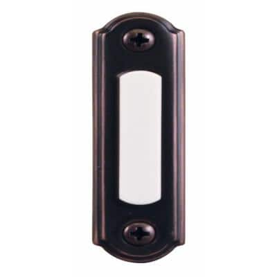 Wired LED Lighted Door Bell Push Button, Mediterranean Bronze