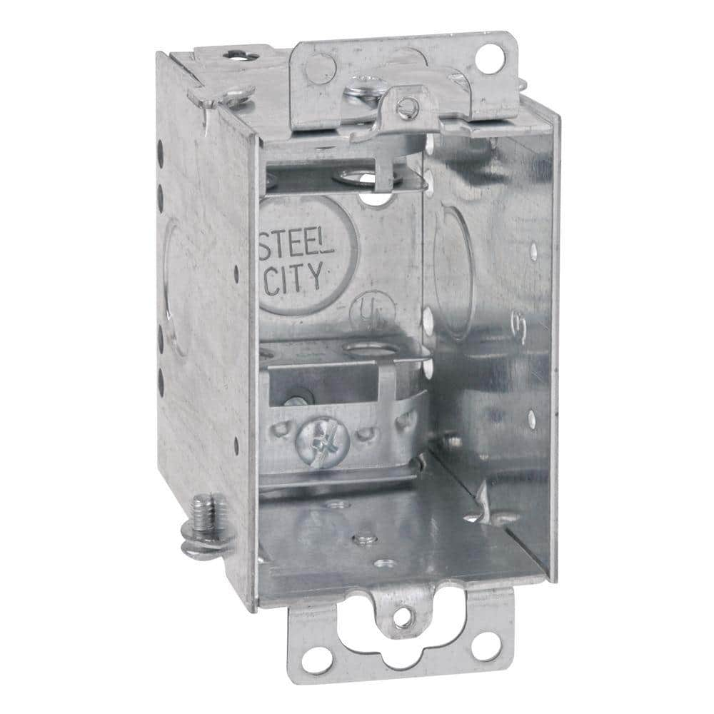 Steel City 1 Gang 14 Cu In Pre Galvanized Metal Gangable Old Work Switch Box Case Of 25 Cwx 25 The Home Depot