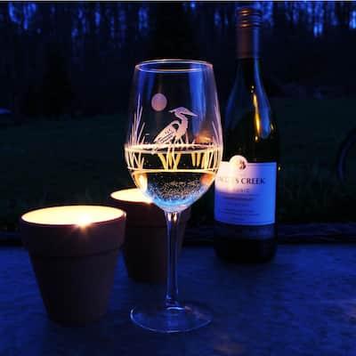 Heron 12 oz. White Wine Glass (Set of 4)