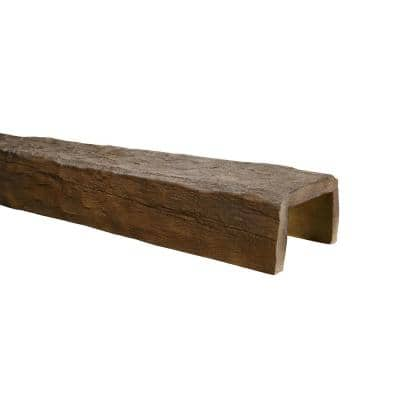 5-1/8 in. x 8 in. x 13 ft. Medium Oak Hand Hewn Faux Wood Beam