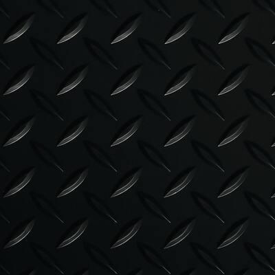 Diamond Tread 8.5 ft. x 22 ft. Midnight Black Commercial Grade Vinyl Garage Flooring Cover and Protector