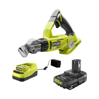 ONE+ 18V Cordless 18-Gauge Offset Shear with 2.0 Ah Battery and Charger