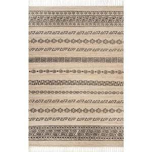Ellis Tribal Fiesta Natural 5 ft. x 8 ft. Area Rug