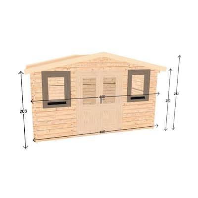 Hoby Nervion 12 ft. 5 in. x 9 ft. 8 in. Log Garden House