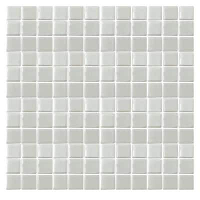 Irridecentz I-Off White-1413 Mosaic Recycled Glass 12 in. x 12 in. Mesh Mounted Tile (5 sq. ft. / case)