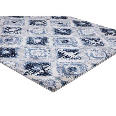 Diamond Blue 8 ft. x 10 ft. Area Rug
