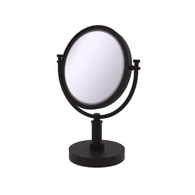 15 in. x 8 in. Vanity Top Makeup Mirror 5x Magnification in Oil Rubbed Bronze