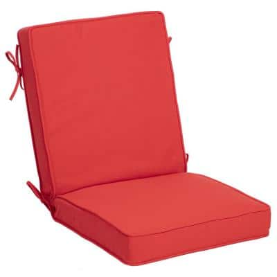 21 in. x 24 in. Oceantex Canvas Vibrant Reef Outdoor High Back Dining Chair Cushion
