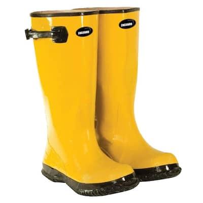 Men's Size 14 Yellow Rubber Slush Boots