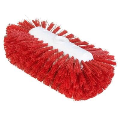 5.5 in. x 9.0 in. Red Tank and Kettle Scrub Brush (Case of 12)