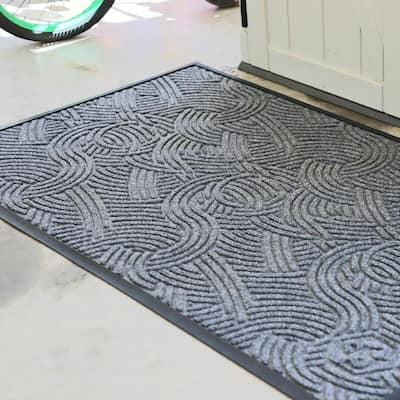 5 ft. W x 3 ft. L Grey Ash Polyester Rubber Garage Flooring Mat