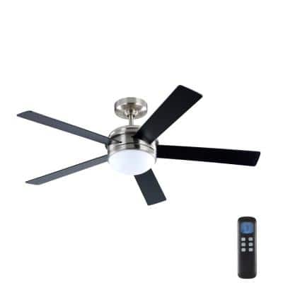 Audrino 52 in. Integrated LED Indoor Brushed Nickel DC Ceiling Fan with Light Kit and Remote Control