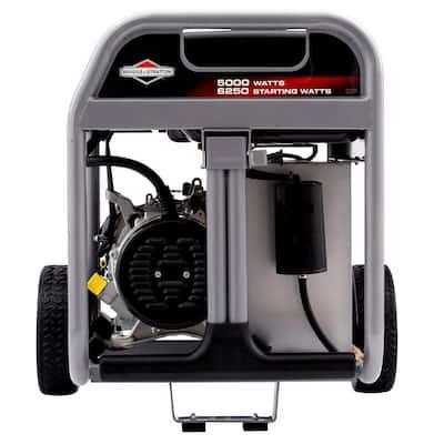 5,000-Watt Gasoline Powered Portable Generator Recoil Start with OHV Engine