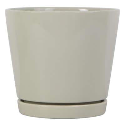 8 in. Oatmeal Knack Ceramic Planter