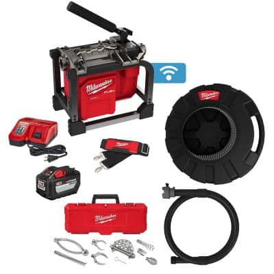 M18 FUEL Cordless Drain Cleaning Sewer Sectional Machine Kit with 7/8 in. Cable with Attachments