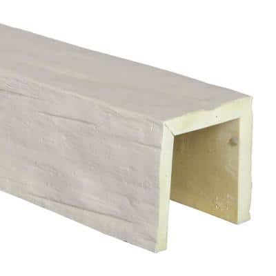SAMPLE - 6 in. x 12 in. x 6 in. Urethane 3-Sided (U-Beam) Riverwood Faux Wood Ceiling Beam , Unfinished Finish