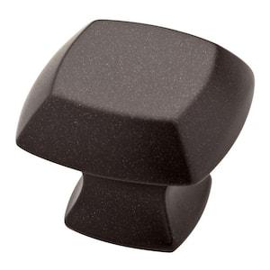Mandara 1-1/4 in. (32 mm) Cocoa Bronze Square Cabinet Knob