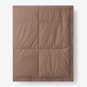 LaCrosse Down Mocha Cotton Full/Queen Blanket