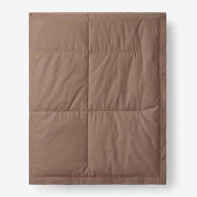 LaCrosse Down Mocha Cotton Twin Blanket