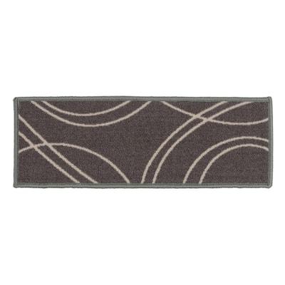 "Contemporary Stripe Non-Slip Stair Treads 8.6"" x 26"" Gray (Set of 4)"