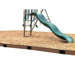 16 ft. x 1 in. Uptown Brown Composite Straight Playground Border Edging