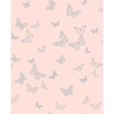 Kyla Pink Glitter Pink Wallpaper Sample