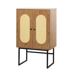 Krle 2-Door Acorn Accent Cabinet with Shelves