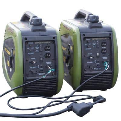 4,400/3,600-Watt Dual Fuel LPG/Gas Powered Recoil Start Portable Digital Inverter Generator Kit with Parallel Cable Kit
