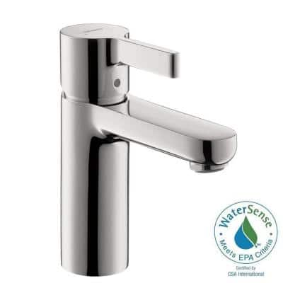 Metris S Single Hole Single-Handle Mid-Arc Bathroom Faucet in Chrome