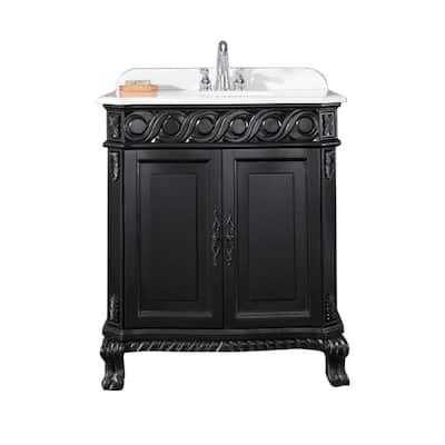 30 Inch Vanities Black Bathroom Vanities Bath The Home Depot