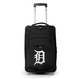 MLB Detroit Tigers  21 in. Black Carry-On Rolling Softside Suitcase