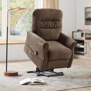 Power Lift Chair, Power Lift Chair with Remote, Vktech Power Lift Chair, Soft Fabric Upholstery Recliner  (Brown)