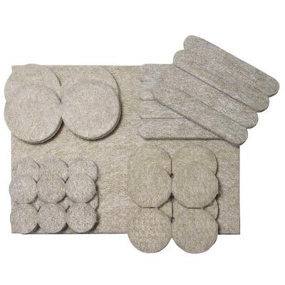 Assorted Self-adhesive Felt Pads (33-Multipack)