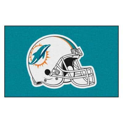 NFL - Miami Dolphins Helmet Rug - 5ft. x 8ft.