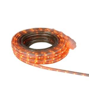 30 ft. 108-Light Orange LED Outdoor Christmas Linear Tape Lighting