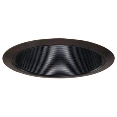 6 in. Tuscan Bronze Recessed Ceiling Light Black Coilex Baffle and Trim