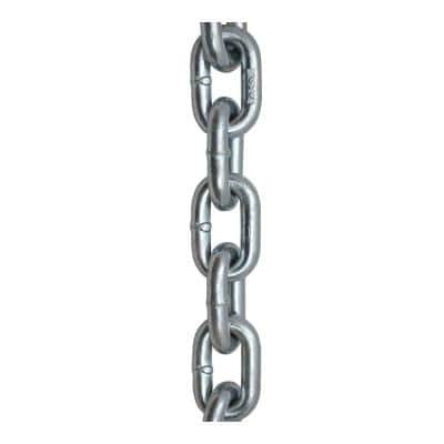 3/8 in. x 15 ft. Grade 30 Proof Coil Chain Zinc Plated Heavy-Duty Carry Bag
