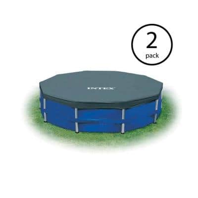 Easy Set 12 ft. W Round Frame Above Ground Swimming Pool Leaf Cover (2-Pack)