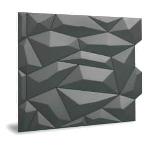 24'' x 24'' Glacier PVC Seamless 3D Wall Panels in Smoked Gray 1-Piece