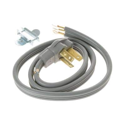 4 ft. 3-Prong 40 Amp Electric Range Cord