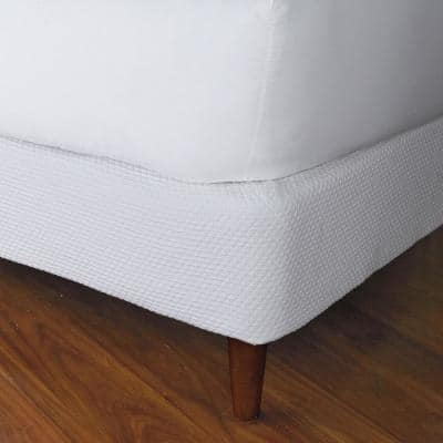 Madelyn Matelasse Cotton White Queen Box Spring Cover