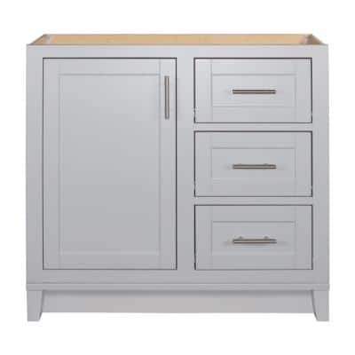 Kinghurst 36 in. W x 21 in. D x 33.5 in. H Bathroom Vanity Cabinet Only in Dove Gray