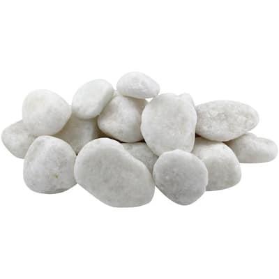 1 in. to 2 in. 30 lb. Medium Snow White Pebbles